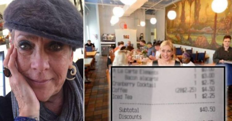 Waitress Notices That One Of Her Tables Is Praying Before The Meal, Adds A Line To Their Receipt