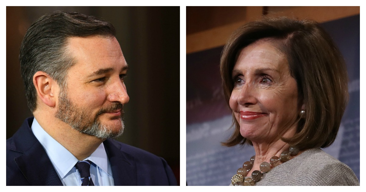 After Pelosi Passed Out The Pens, Ted Cruz Absolutely Destroyed Her!